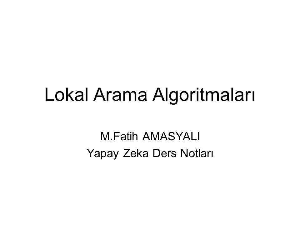 Lokal Arama Algoritmaları M.Fatih AMASYALI Yapay Zeka Ders Notları