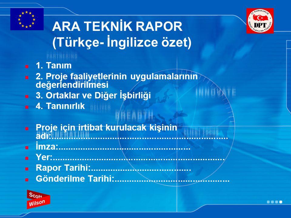 ARA TEKNİK RAPOR (Türkçe- İngilizce özet) 1.Tanım 2.