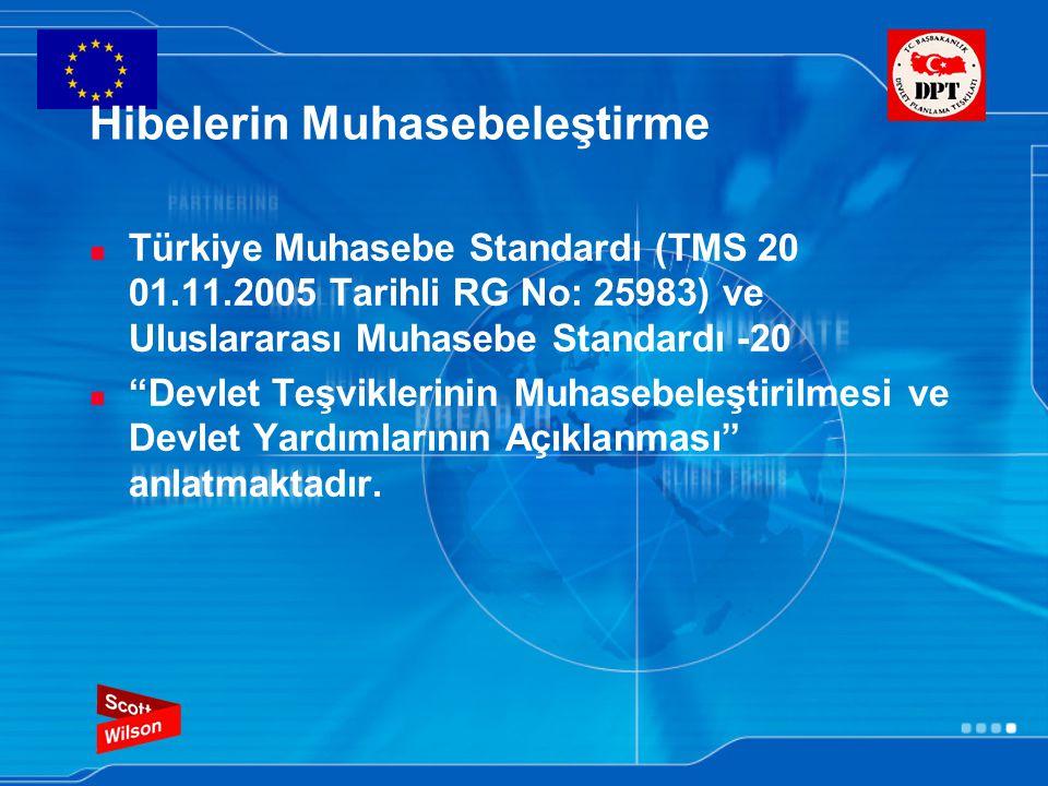 """Hibelerin Muhasebeleştirme Türkiye Muhasebe Standardı (TMS 20 01.11.2005 Tarihli RG No: 25983) ve Uluslararası Muhasebe Standardı -20 """"Devlet Teşvikle"""