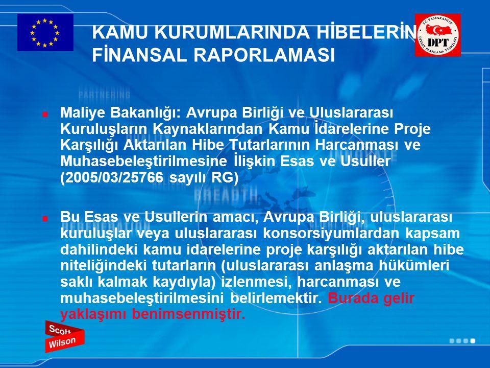 KAMU KURUMLARINDA HİBELERİN FİNANSAL RAPORLAMASI Maliye Bakanlığı: Avrupa Birliği ve Uluslararası Kuruluşların Kaynaklarından Kamu İdarelerine Proje K
