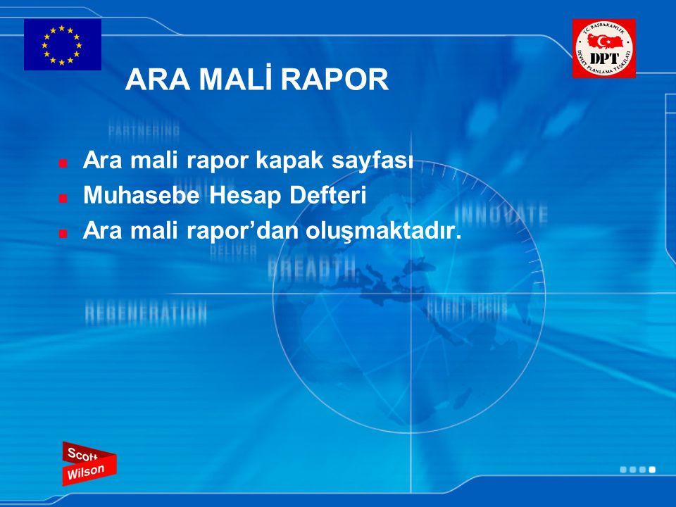 ARA MALİ RAPOR Ara mali rapor kapak sayfası Muhasebe Hesap Defteri Ara mali rapor'dan oluşmaktadır.