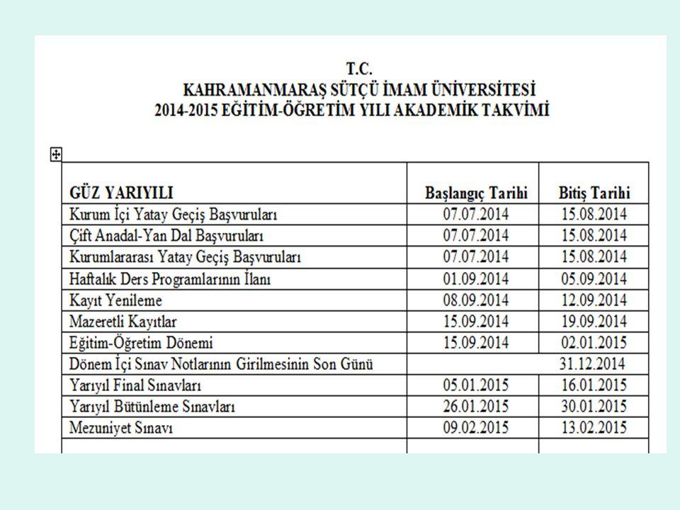DERS ALMA KURALLARI -1 (9) (Değişik : 28.09.2013/28779 RG) Bir yarıyılda en fazla 30 AKTS kredisi ders alınabilir.