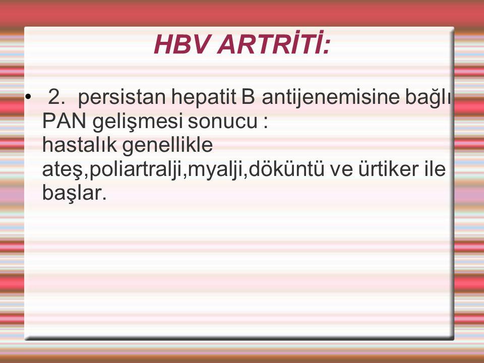 HBV ARTRİTİ: 2.