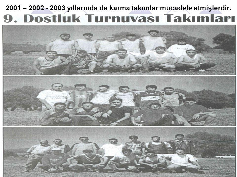 2001 – 2002 - 2003 yıllarında da karma takımlar mücadele etmişlerdir.