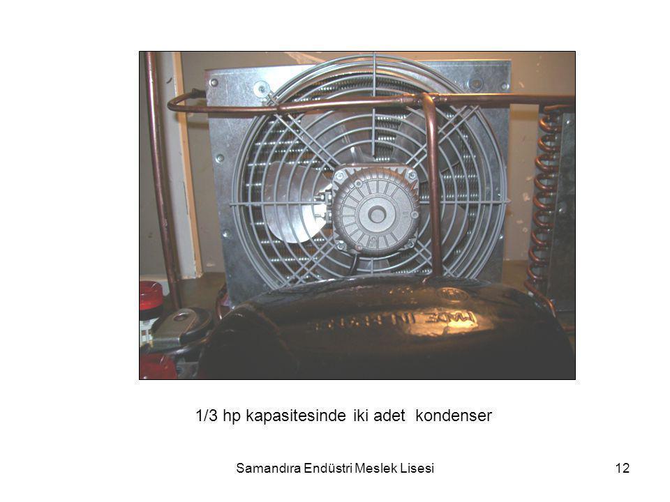Samandıra Endüstri Meslek Lisesi12 1/3 hp kapasitesinde iki adet kondenser