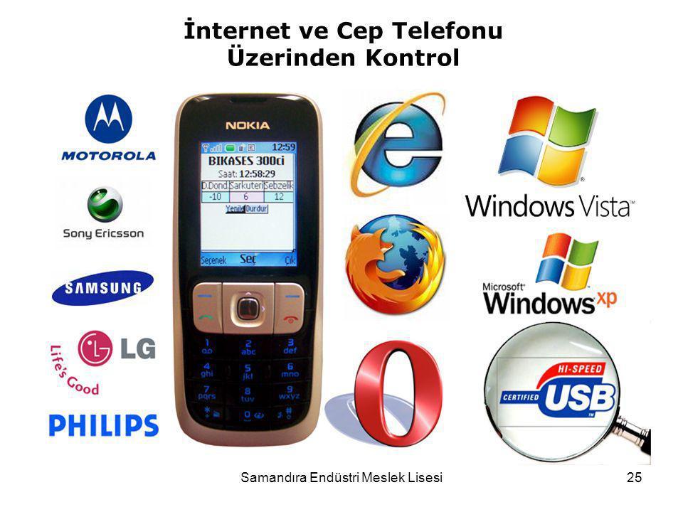 Samandıra Endüstri Meslek Lisesi25 İnternet ve Cep Telefonu Üzerinden Kontrol