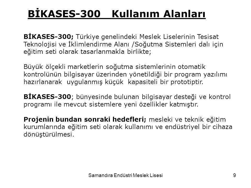 Samandıra Endüstri Meslek Lisesi9 BİKASES-300; Türkiye genelindeki Meslek Liselerinin Tesisat Teknolojisi ve İklimlendirme Alanı /Soğutma Sistemleri d