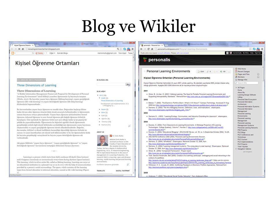 Blog ve Wikiler