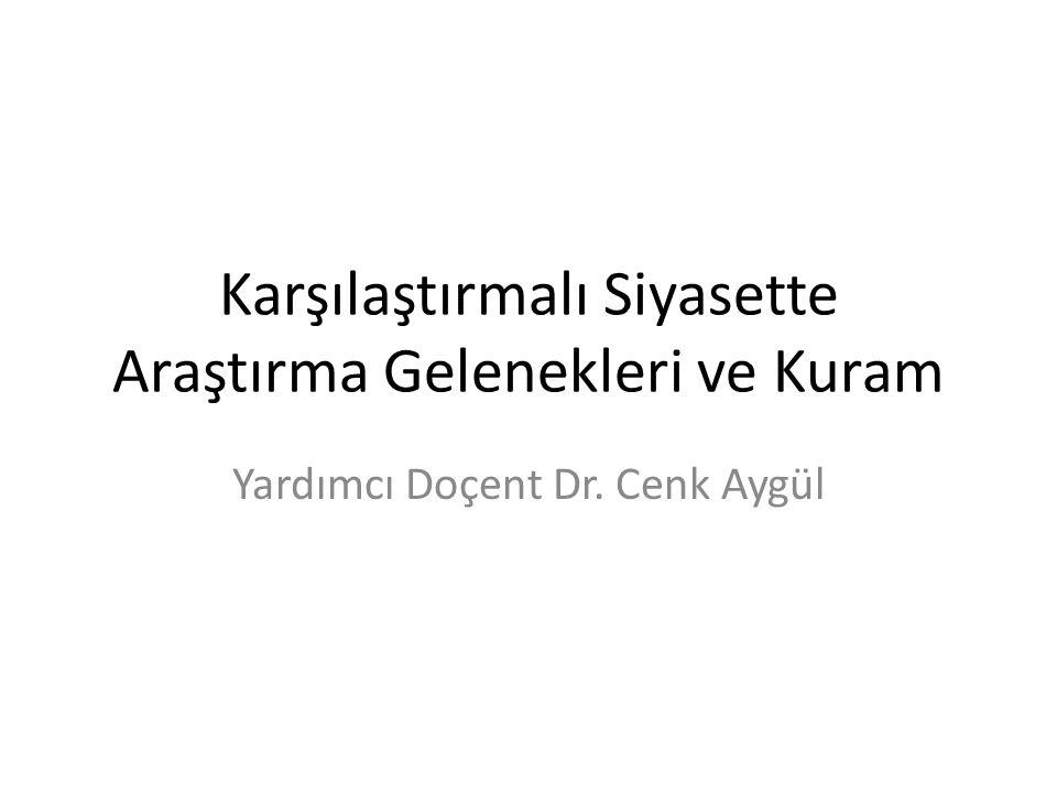 Karşılaştırmalı Siyasette Araştırma Gelenekleri ve Kuram Yardımcı Doçent Dr. Cenk Aygül