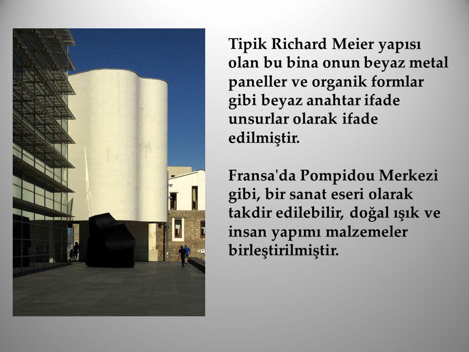 Tipik Richard Meier yapısı olan bu bina onun beyaz metal paneller ve organik formlar gibi beyaz anahtar ifade unsurlar olarak ifade edilmiştir. Fransa