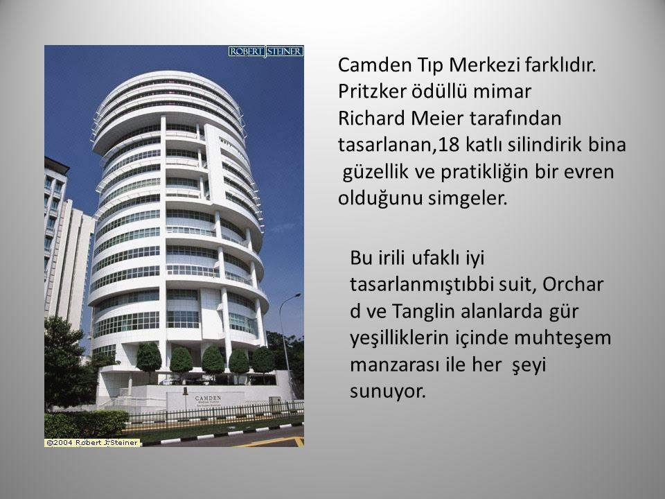 Camden Tıp Merkezi farklıdır. Pritzker ödüllü mimar Richard Meier tarafından tasarlanan,18 katlı silindirik bina güzellik ve pratikliğin bir evren old