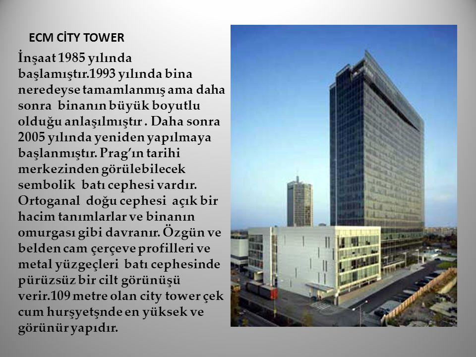 ECM CİTY TOWER İnşaat 1985 yılında başlamıştır.1993 yılında bina neredeyse tamamlanmış ama daha sonra binanın büyük boyutlu olduğu anlaşılmıştır. Daha