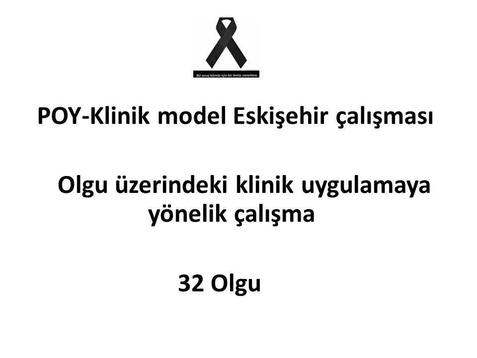 POY-Klinik model Eskişehir çalışması Olgu üzerindeki klinik uygulamaya yönelik çalışma 32 Olgu