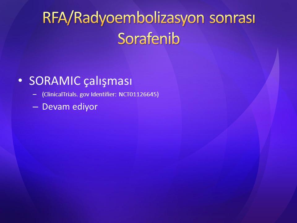SORAMIC çalışması – (ClinicalTrials. gov Identifier: NCT01126645) – Devam ediyor