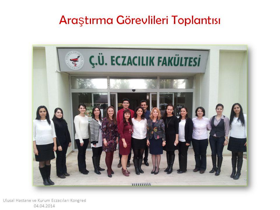 Ulusal Hastane ve Kurum Eczacıları Kongresi 04.04.2014