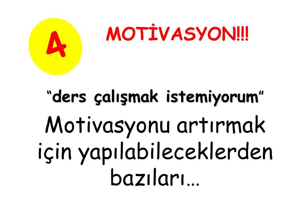 Motivasyonu artırmak için yapılabileceklerden bazıları… 4 MOTİVASYON!!.