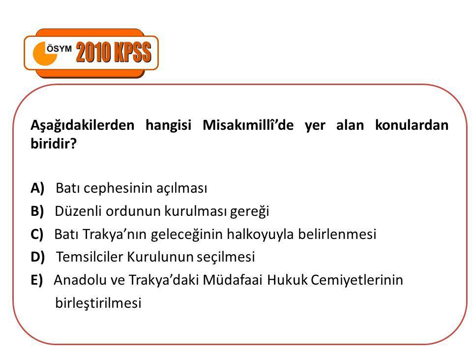 Aşağıdakilerden hangisi, Erzurum ve Sivas Kongresi'nin ortak kararlarından biri değildir.