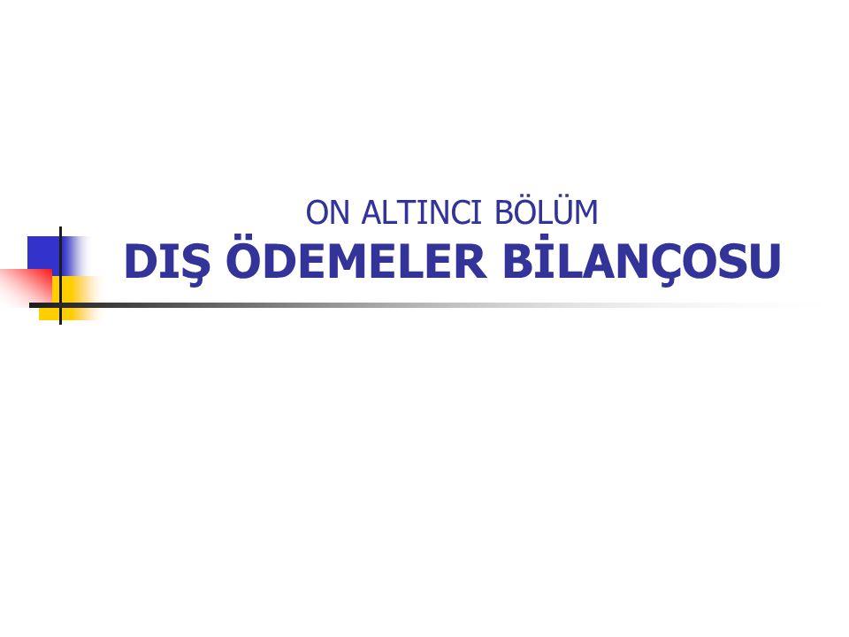 DIŞ ÖDEMELER BİLANÇOSU (Balance of Payments) Dış ödemeler bilançosu veya dengesi, ülkelerin belirli bir dönem içerisindeki dış ekonomik ve mali ilişkilerinin durumunu gösterir.