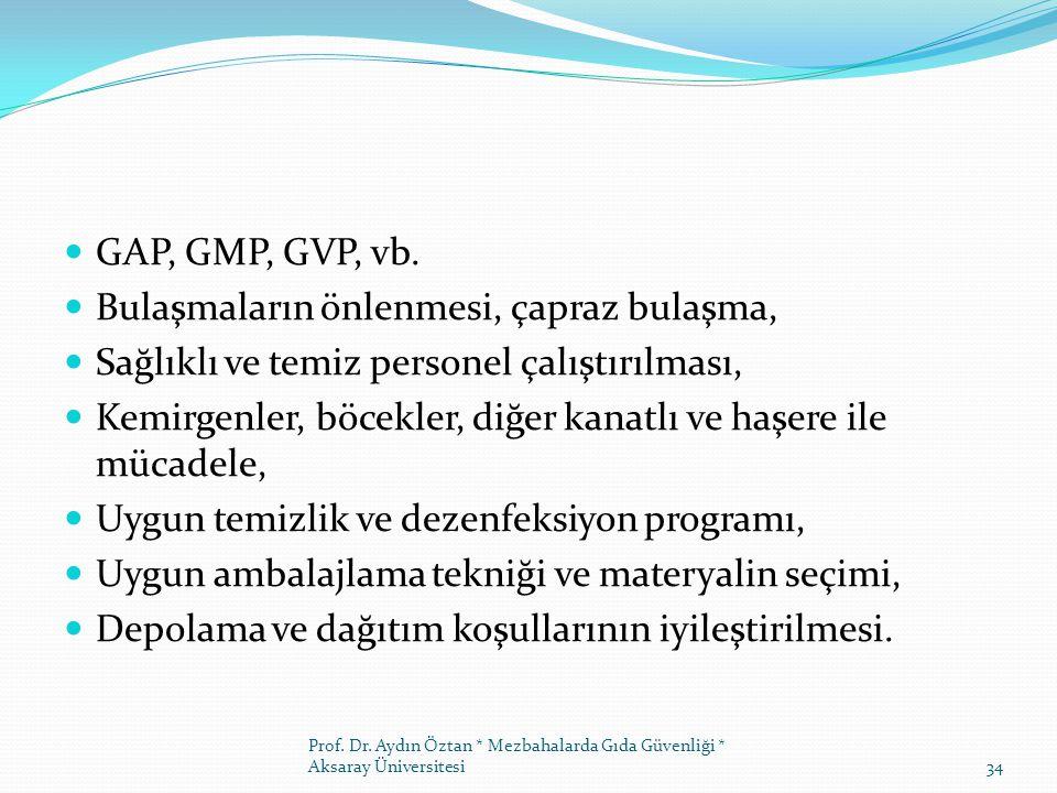 GAP, GMP, GVP, vb.