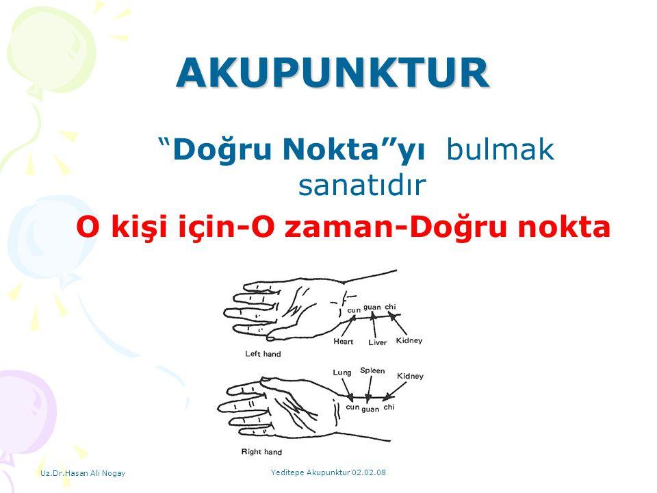 """Uz.Dr.Hasan Ali Nogay Yeditepe Akupunktur 02.02.08 """"Doğru Nokta""""yı bulmak sanatıdır O kişi için-O zaman-Doğru nokta AKUPUNKTUR"""
