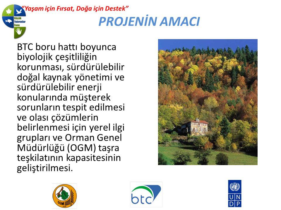 BTC boru hattı boyunca biyolojik çeşitliliğin korunması, sürdürülebilir doğal kaynak yönetimi ve sürdürülebilir enerji konularında müşterek sorunların tespit edilmesi ve olası çözümlerin belirlenmesi için yerel ilgi grupları ve Orman Genel Müdürlüğü (OGM) taşra teşkilatının kapasitesinin geliştirilmesi.