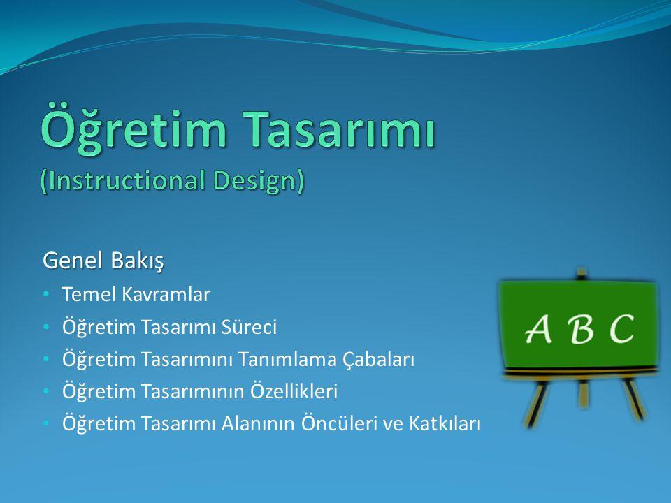 Eğitim tasarımı Program geliştirme Materyal tasarlama Eğitim planlaması