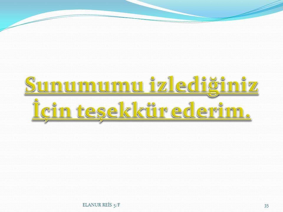 ELANUR REİS 5/F35
