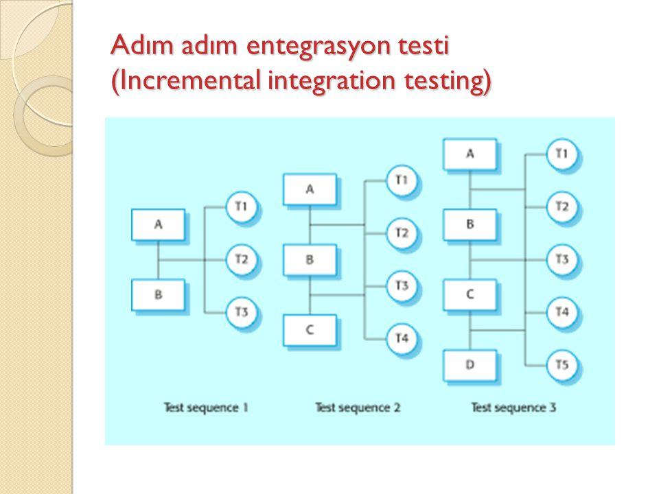 Adım adım entegrasyon testi (Incremental integration testing)