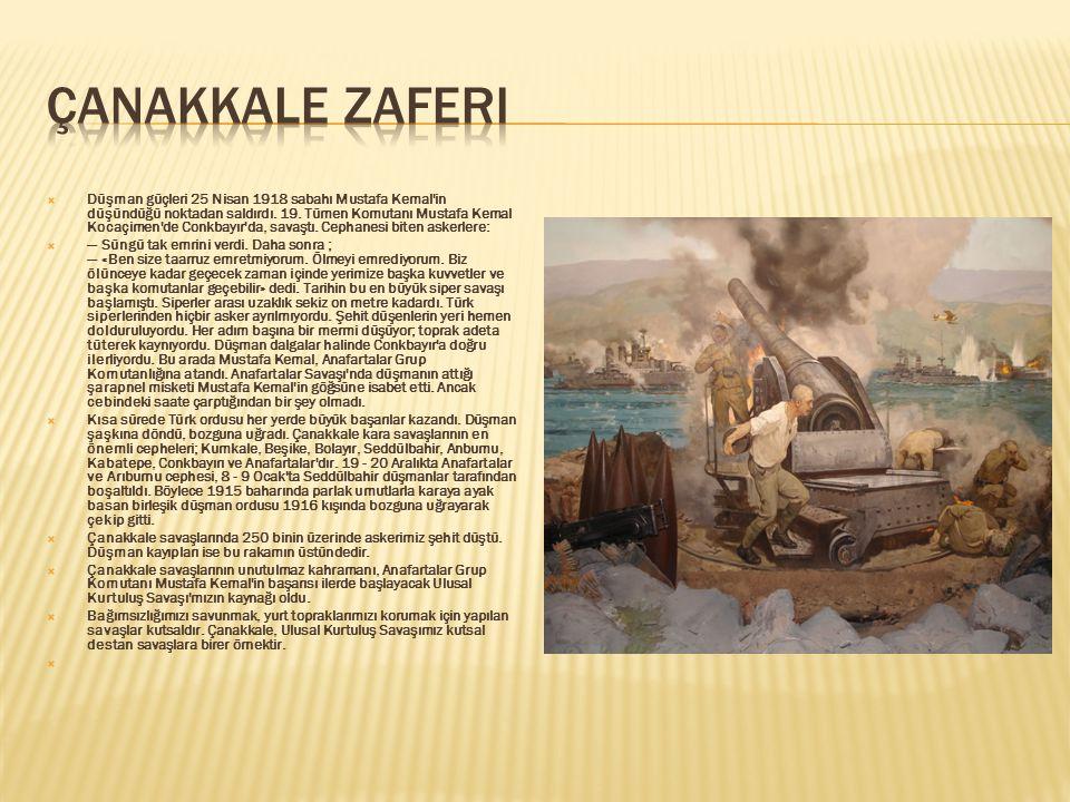 Bombardıman sırasında Türk tabya ve bataryaları büyük zarar görmüştü. Amiral Robeck Fransız gemilerini geri çekerek İngiliz savaş gemilerini ileri s