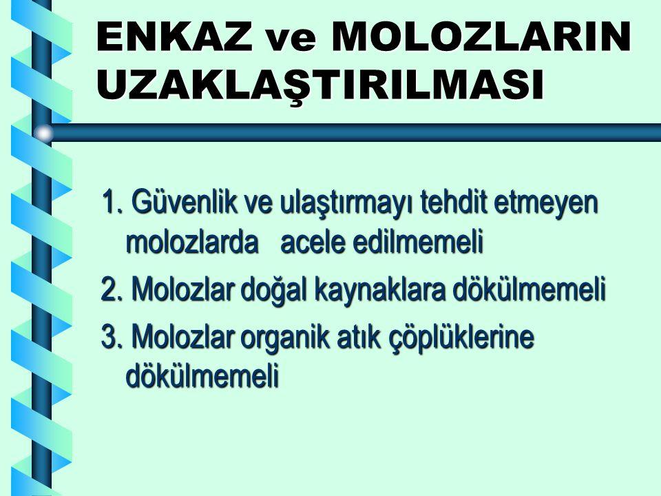 ENKAZ ve MOLOZLARIN UZAKLAŞTIRILMASI 1.