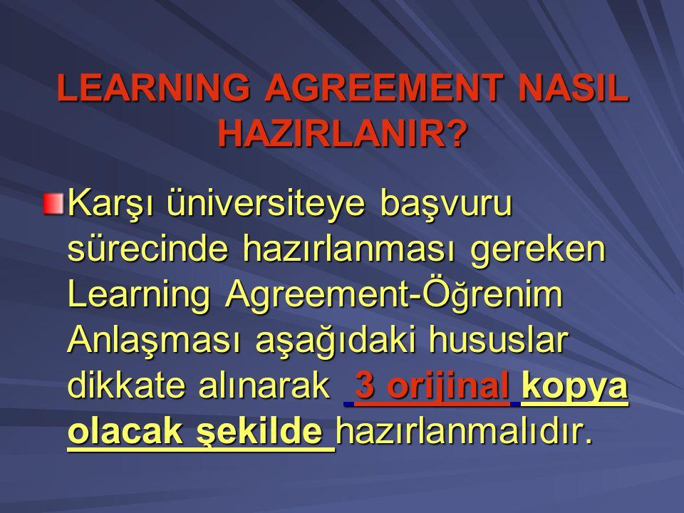Değişiklik Sayfası; Öğrenci karşı kuruma gittikten sonra ders programında herhangi bir değişiklik olmuşsa Uluslararası İlişkiler Birimi web sayfasındaki Belgeler linkinde bulunan Learning Agreement'ın ikinci sayfası olan ekle/sil sayfasını kullanarak değişikliğini yapar.