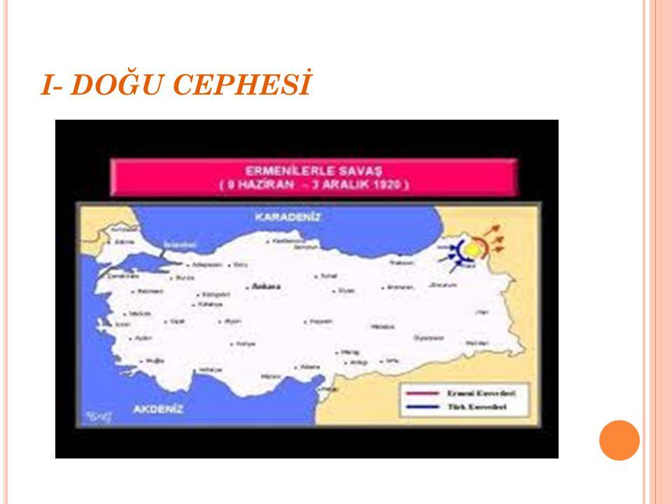 KURTULUŞ SAVAŞI'NDAKİ CEPHELER