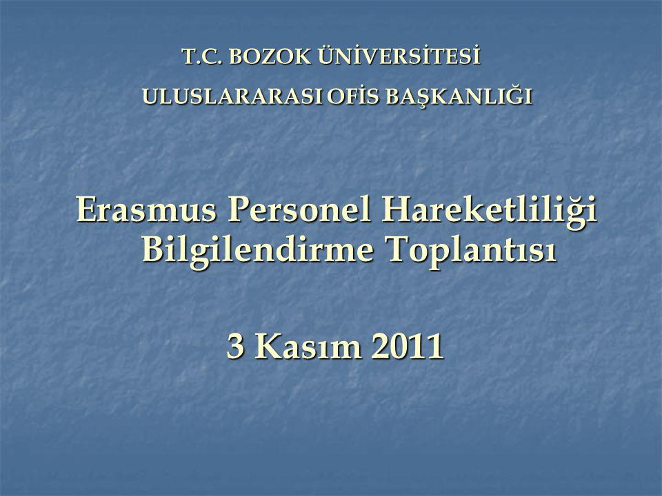 T.C.BOZOK ÜNİVERSİTESİ ULUSLARARASI OFİS BAŞKANLIĞI T.C.