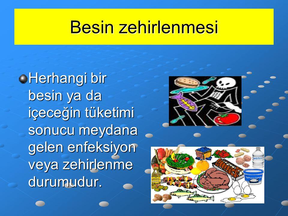 Et ve et ürünleri ile yapılan birçok yiyecekte kullanılan etin yapısında bulunan virüs, bakteri ve parazitler pişirme işlemiyle yok edilir.