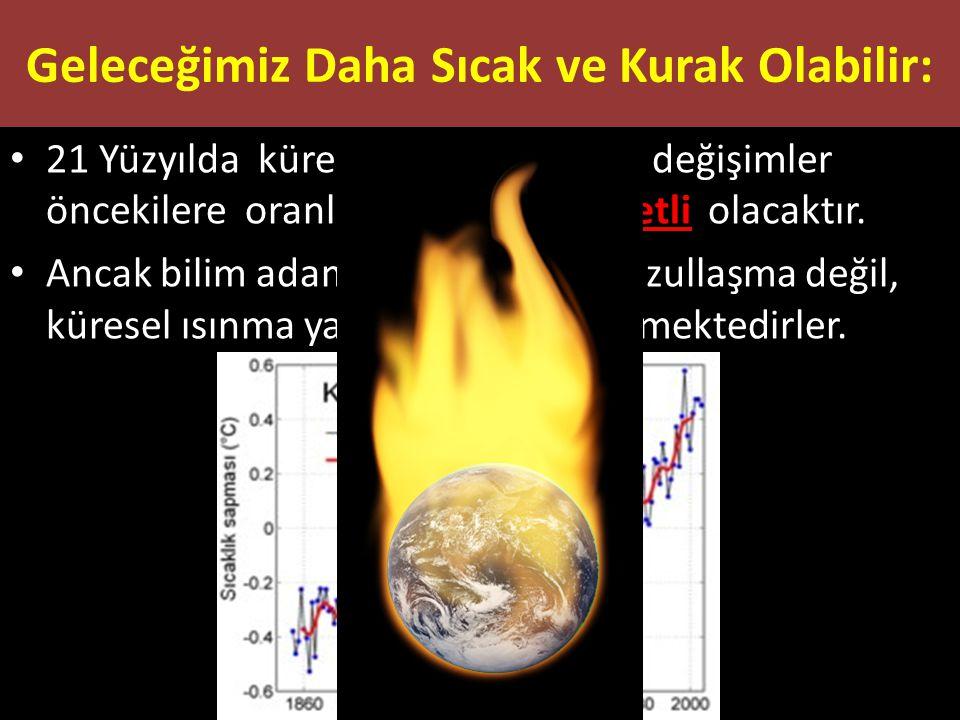 21 Yüzyılda küresel sistemlerdeki değişimler öncekilere oranla çok daha şiddetli olacaktır. Ancak bilim adamları, dünyanın buzullaşma değil, küresel ı