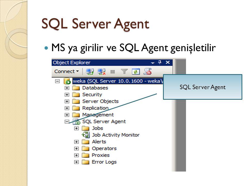 Yeni Job ( İ ş) Oluşturma SQL Server üzerinde bulunan Job (Schedule) mantı ğ ıyla bir çok işi otomatik olarak SQL Server a yaptırmak mümkün.
