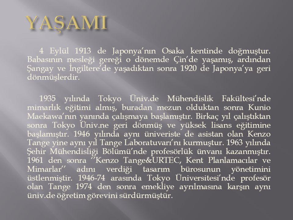 4 Eylül 1913 de Japonya'nın Osaka kentinde doğmuştur.