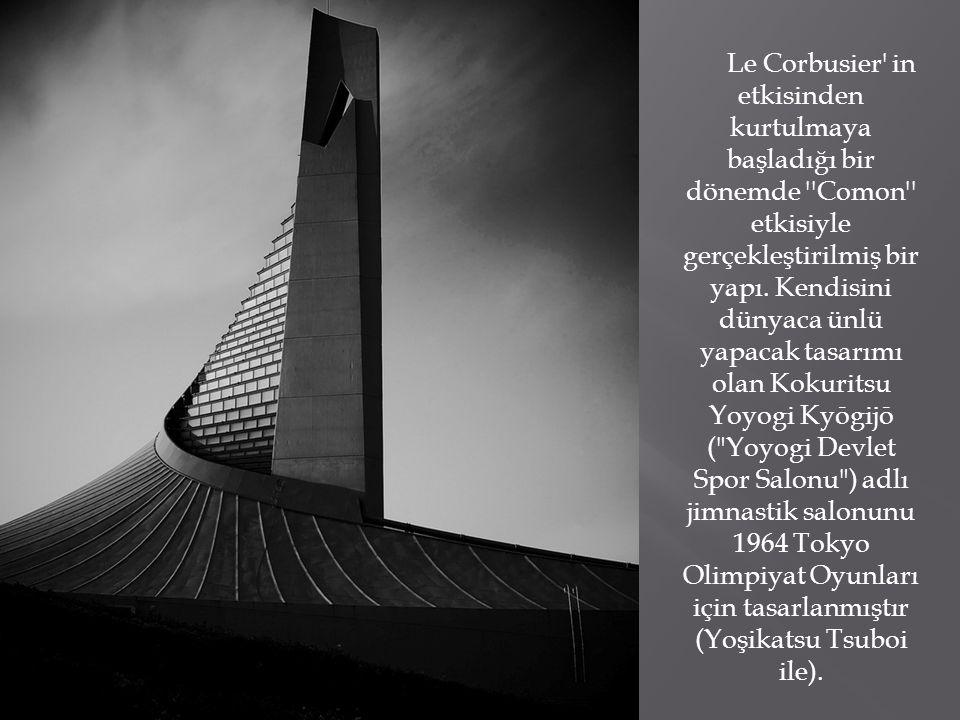 Le Corbusier in etkisinden kurtulmaya başladığı bir dönemde Comon etkisiyle gerçekleştirilmiş bir yapı.