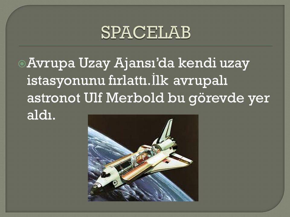  Avrupa Uzay Ajansı'da kendi uzay istasyonunu fırlattı. İ lk avrupalı astronot Ulf Merbold bu görevde yer aldı.