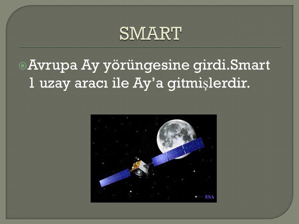  Avrupa Ay yörüngesine girdi.Smart 1 uzay aracı ile Ay'a gitmi ş lerdir.