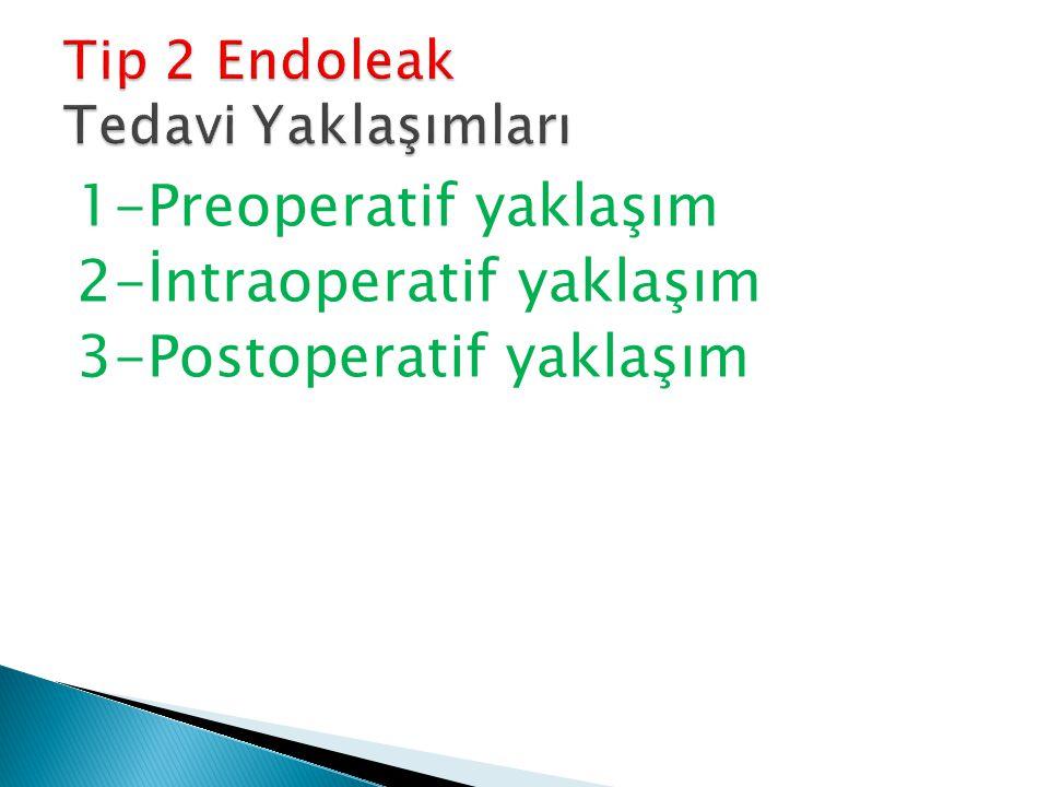1-Preoperatif yaklaşım 2-İntraoperatif yaklaşım 3-Postoperatif yaklaşım