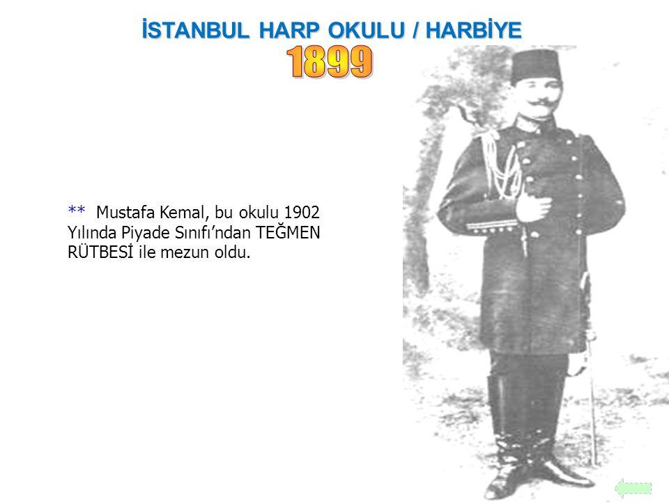 MANASTIR ASKERİ İDADİSİ Askeri bir Lisedir. Bu lisede iken Mustafa Kemal, arkadaşı Ömer Naci'den etkilenerek Edebiyat, Hitabet ve Felsefe 'ye ; Tarih