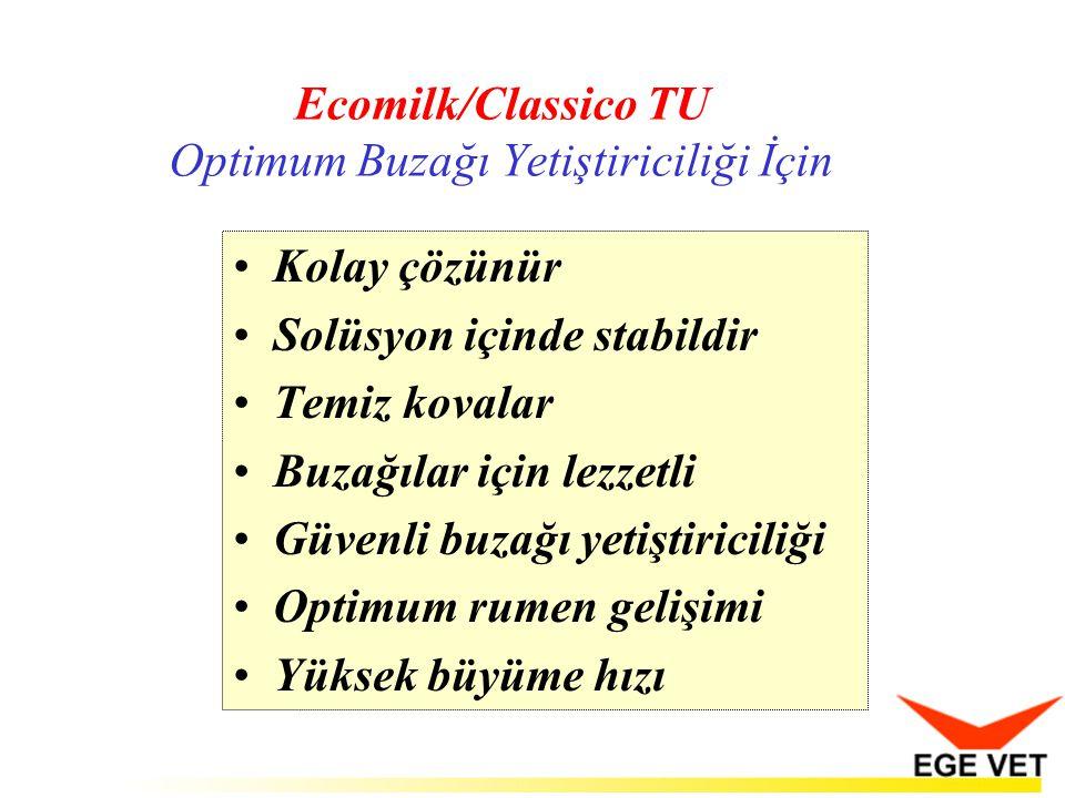 Ecomilk/Classico TU Optimum Buzağı Yetiştiriciliği İçin Kolay çözünür Solüsyon içinde stabildir Temiz kovalar Buzağılar için lezzetli Güvenli buzağı y