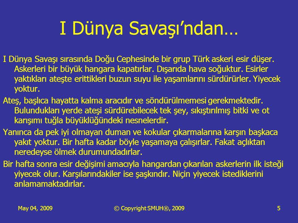 May 04, 2009© Copyright SMUH®, 20095 I Dünya Savaşı'ndan… I Dünya Savaşı sırasında Doğu Cephesinde bir grup Türk askeri esir düşer.