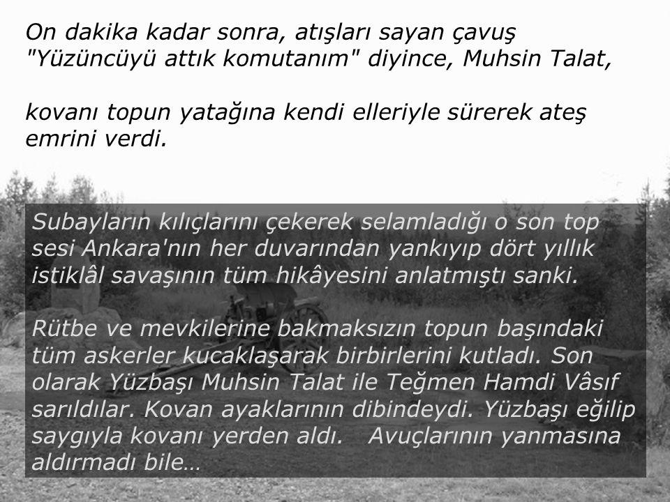 İnönü Üniversitesi Kimya Bölümü Malatya Yüzbaşı Muhsin Talat gözlerine inanamamıştı.