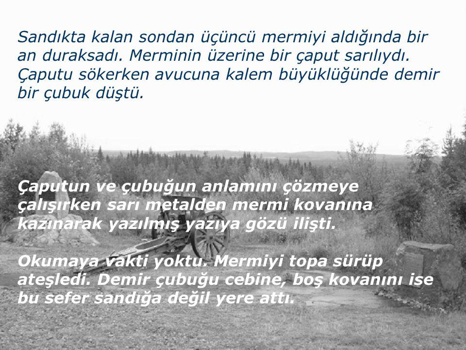 İnönü Üniversitesi Kimya Bölümü Malatya Mart 1921 İnönü Ovası İnsanın İflahını kesen buz gibi bozkır ayazında Ethem Çavuş un sırtı üşüyor, avuçları ise kızgın mermi kovanlarına çıplak elle dokunduğu için alev yanıyordu.