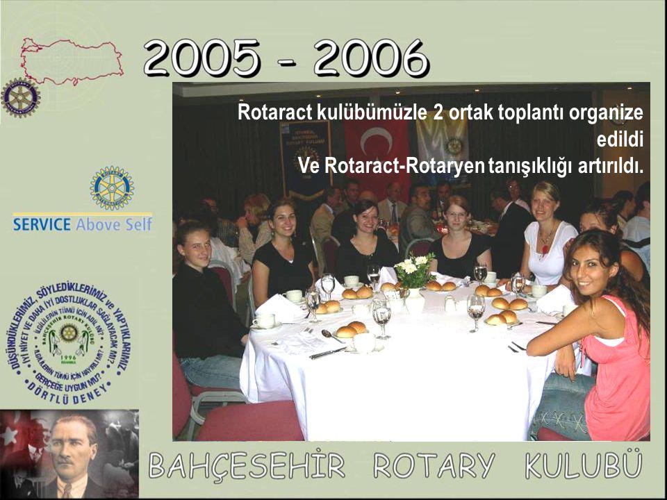 Rotaract kulübümüzle 2 ortak toplantı organize edildi Ve Rotaract-Rotaryen tanışıklığı artırıldı.