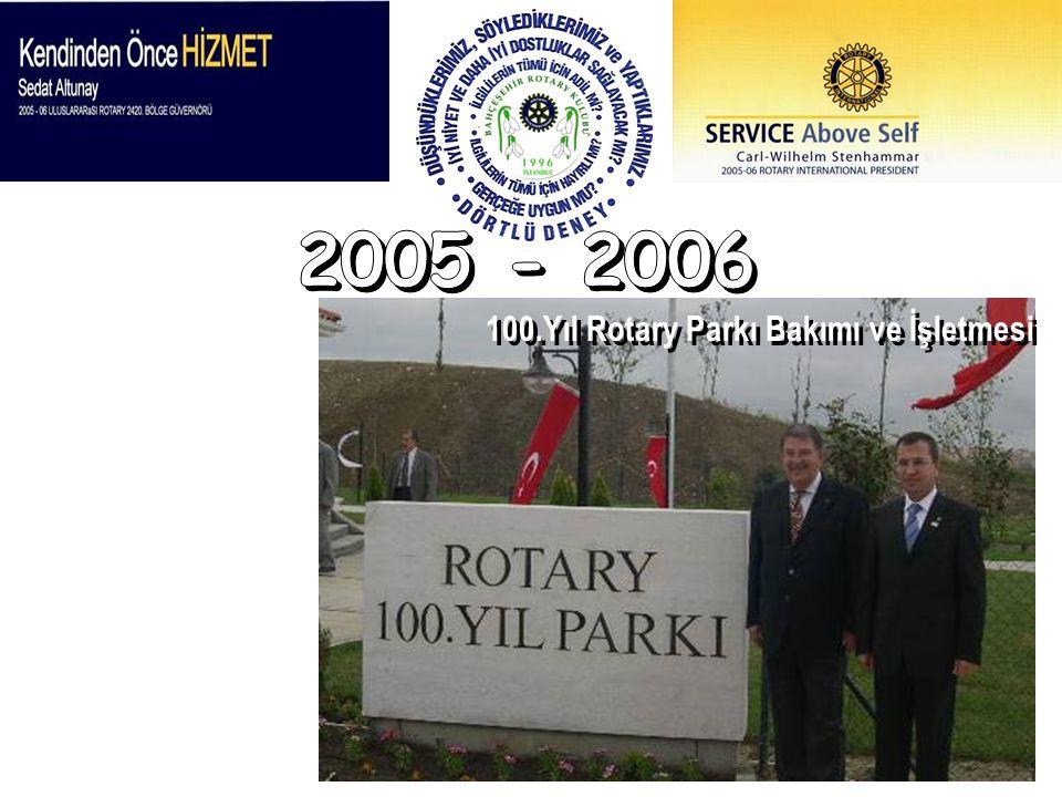 100.Yıl Rotary Parkı Bakımı ve İşletmesi
