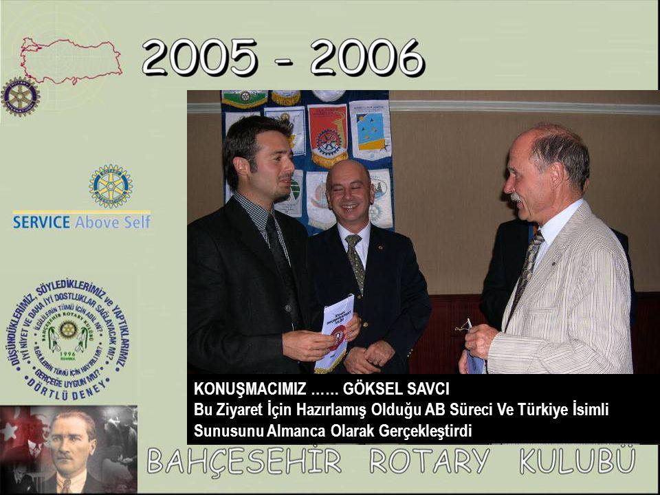 KONUŞMACIMIZ …… GÖKSEL SAVCI Bu Ziyaret İçin Hazırlamış Olduğu AB Süreci Ve Türkiye İsimli Sunusunu Almanca Olarak Gerçekleştirdi