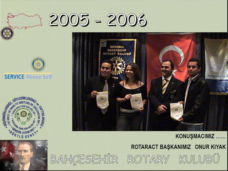 TOPLUMSAL KALKINMA İÇİN SAĞLIĞIN GELİŞTİRİLMESİ PROJESİ KATILIMCILARI: Marmara Üniversitesi Sağlık Eğitim Fakültesi, Bahçeşehir Rotary Kulübü, Göztepe Rotary Kulübü, UR Nüfus ve Kalkınma Eylem Grubu, Maltepe İlçesi Milli Eğitim Müdürlüğü, Maltepe İlçesi Sağlık Grup Başkanlığı, Maltepe Belediyesi